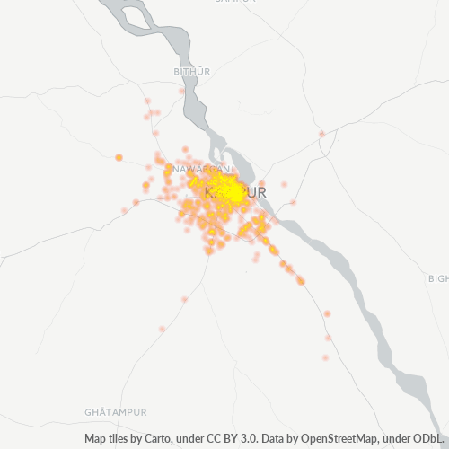 208001 Business Density Heatmap