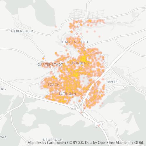 71229 Standortdichte-Heatmap