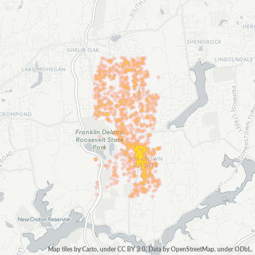 10598 Business Density Heatmap
