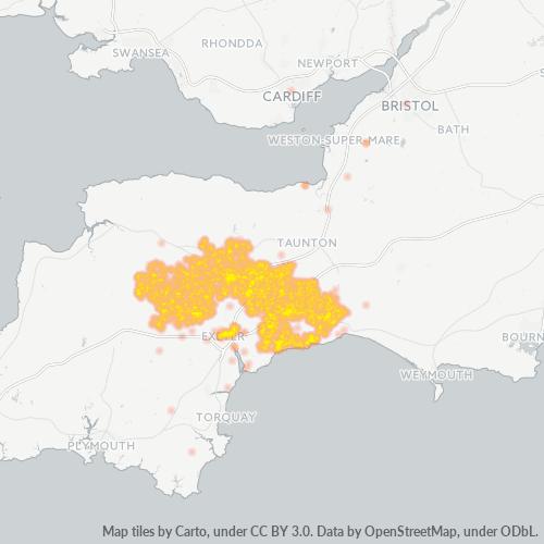 EX1 Business Density Heatmap