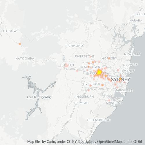 2150 Business Density Heatmap