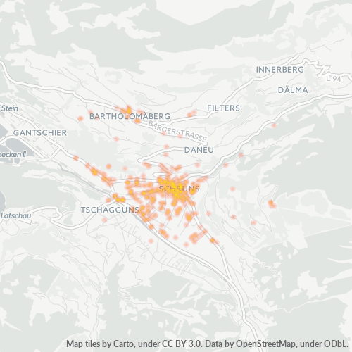 6780 Standortdichte-Heatmap