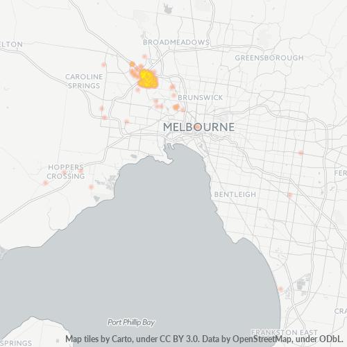 3033 Business Density Heatmap