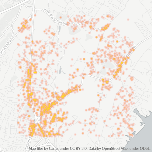 37343 Business Density Heatmap