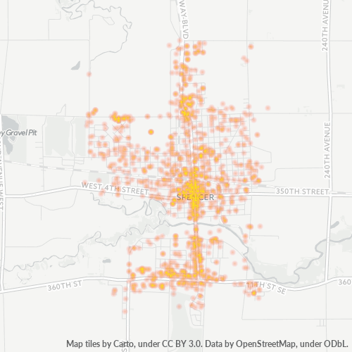 51301 Business Density Heatmap