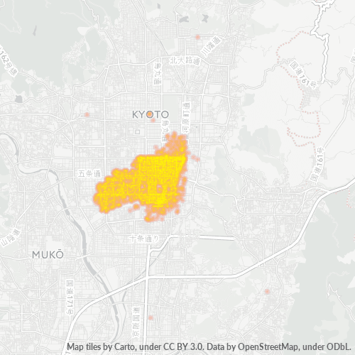 600 事業密度ヒートマップ