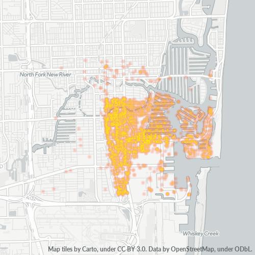 33316 Business Density Heatmap