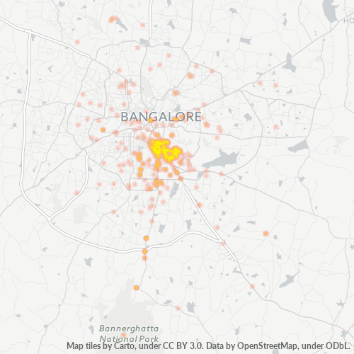 560030 Business Density Heatmap