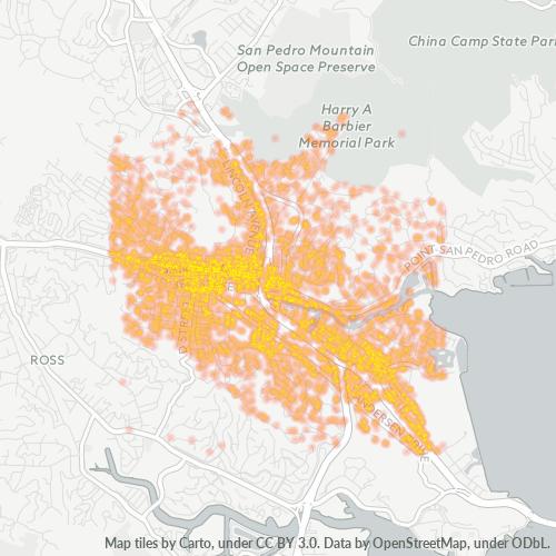 94901 Business Density Heatmap