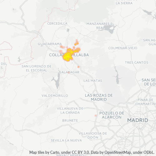28400 Mapa de calor de densidad empresarial