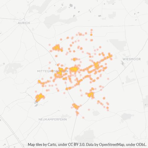 26629 Standortdichte-Heatmap