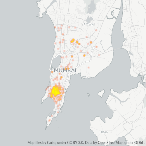 400008 Business Density Heatmap