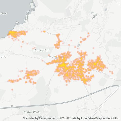 31515 Standortdichte-Heatmap