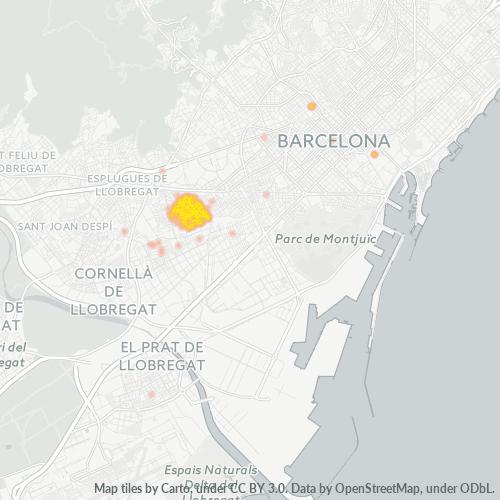 08905 Mapa de calor de densidad empresarial