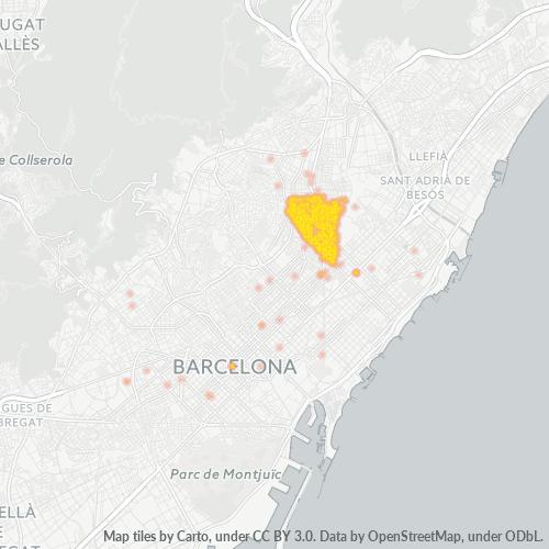 08027 Mapa de calor de densidad empresarial