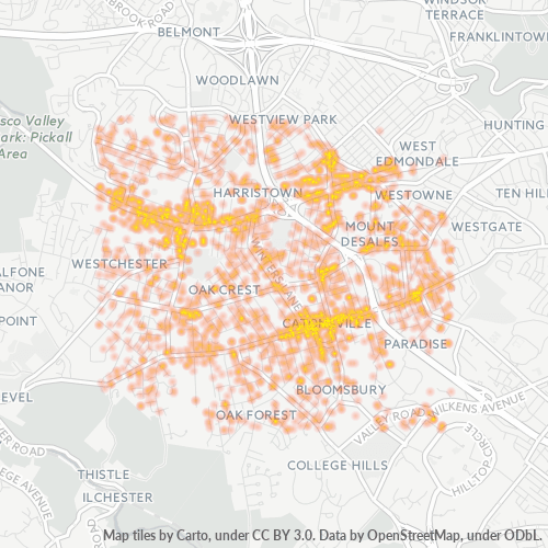 21228 Business Density Heatmap