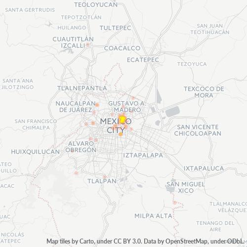 15300 Mapa de calor de densidad empresarial