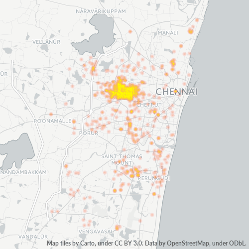 600040 Business Density Heatmap