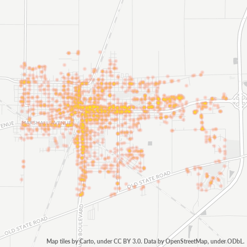 61938 Business Density Heatmap