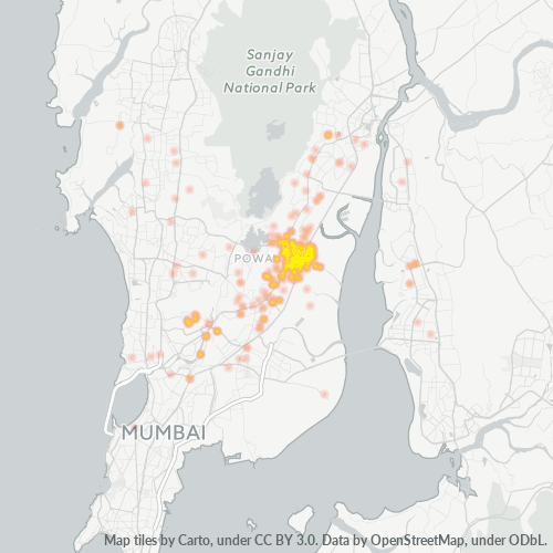 400083 Business Density Heatmap