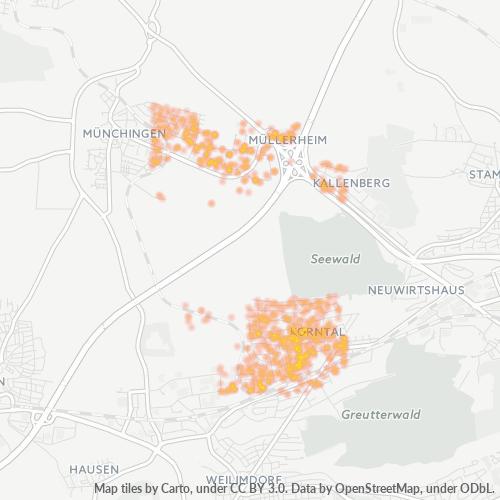 70825 Standortdichte-Heatmap
