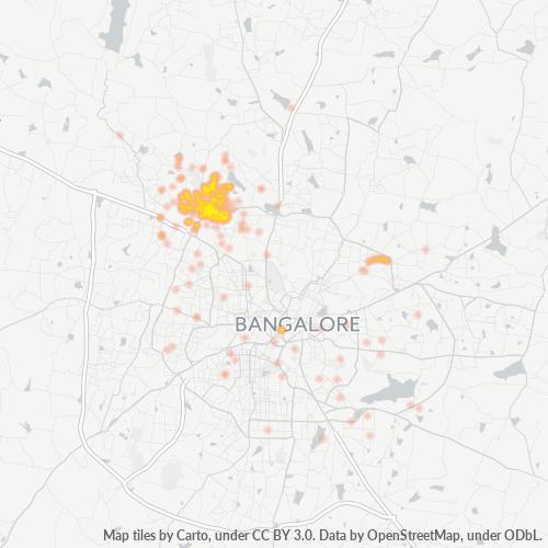 560013 Business Density Heatmap