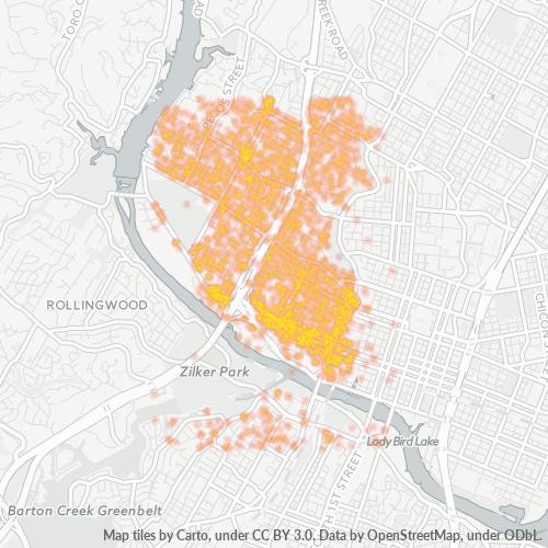 78703 Business Density Heatmap