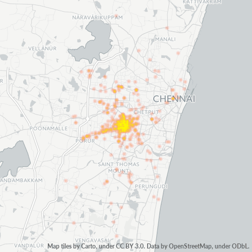 600026 Business Density Heatmap