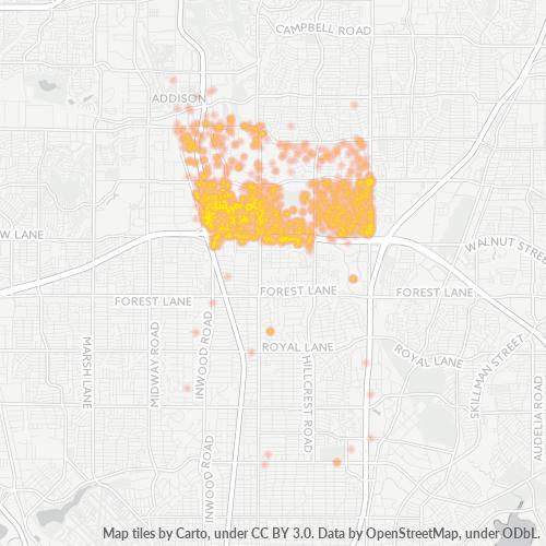 75240 Business Density Heatmap