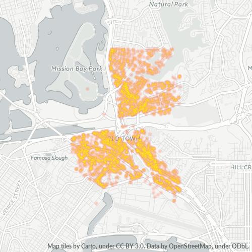 92110 Business Density Heatmap