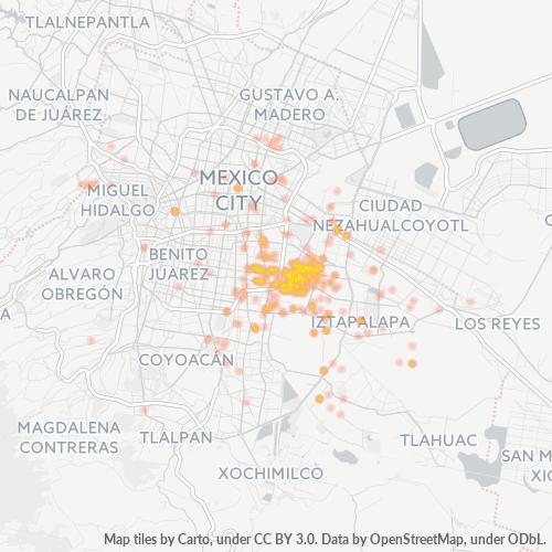 09040 Mapa de calor de densidad empresarial