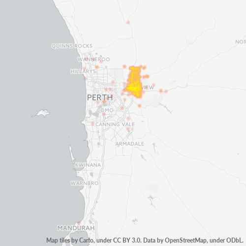 6056 Business Density Heatmap