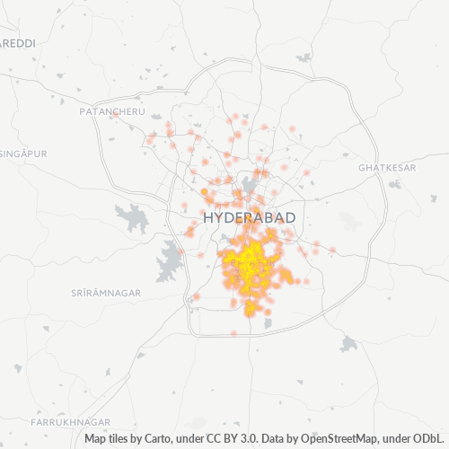 500005 Business Density Heatmap