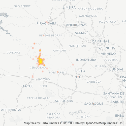 18530-000 Heatmap de Densidade da Empresa