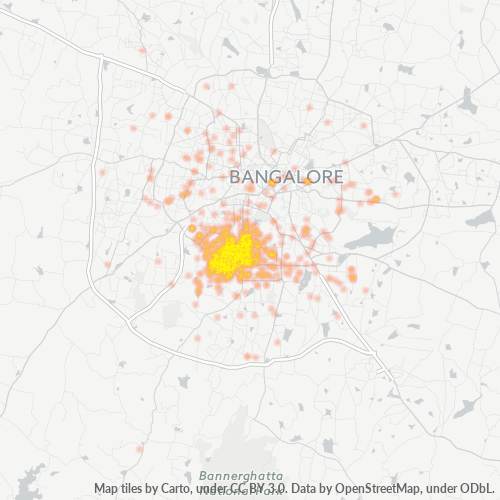 560070 Business Density Heatmap