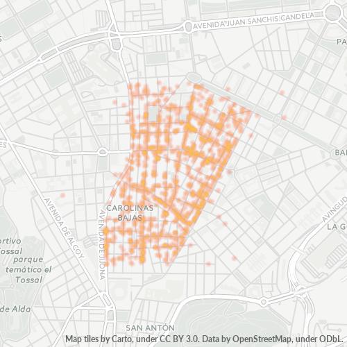 03012 Mapa de calor de densidad empresarial