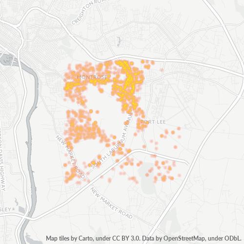 23231 Business Density Heatmap