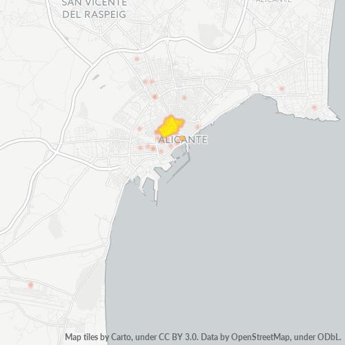 03004 Mapa de calor de densidad empresarial
