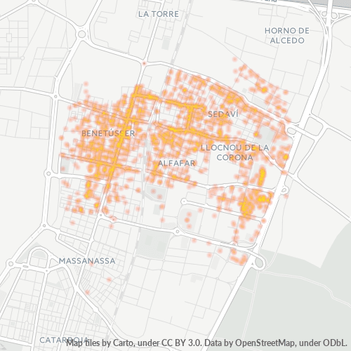 46910 Mapa de calor de densidad empresarial