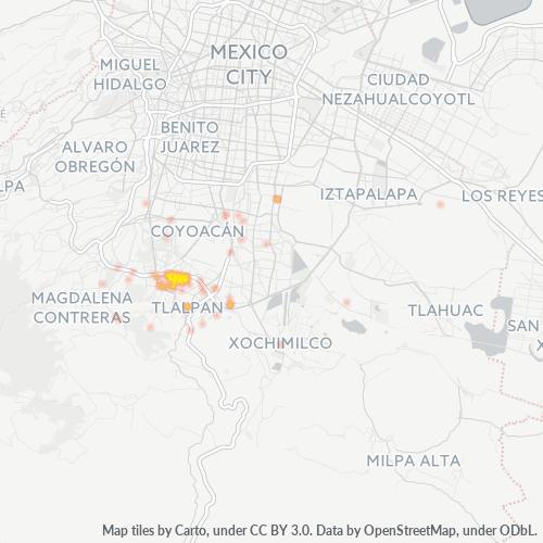 14030 Mapa de calor de densidad empresarial