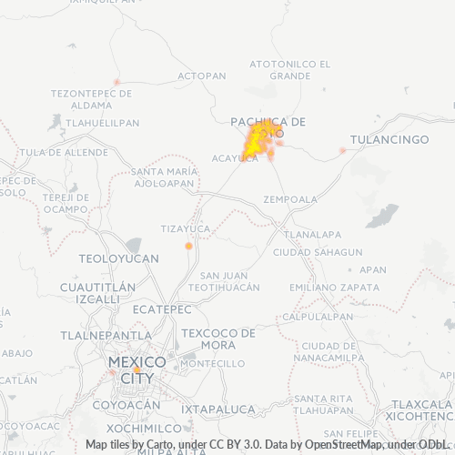 42083 Mapa de calor de densidad empresarial