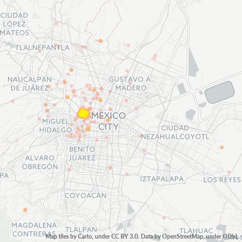 06470 Mapa de calor de densidad empresarial