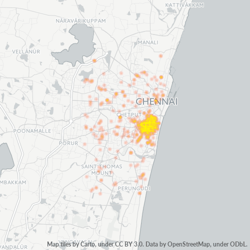 600014 Business Density Heatmap