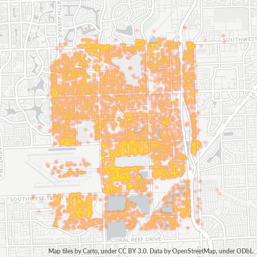 33186 Business Density Heatmap