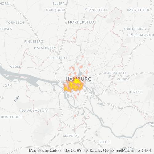 20457 Standortdichte-Heatmap