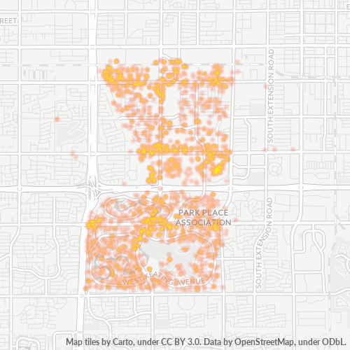 85202 Business Density Heatmap