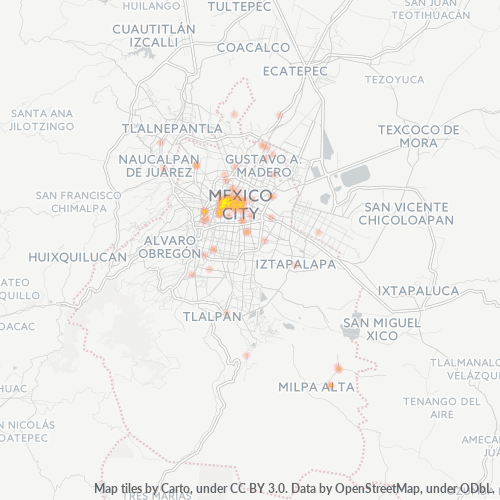 06040 Mapa de calor de densidad empresarial