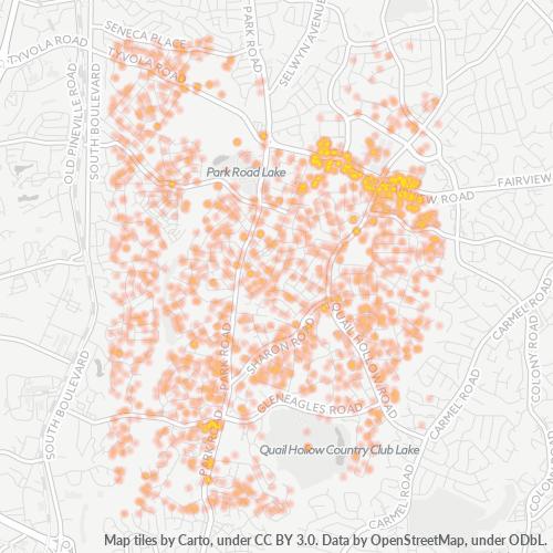28210 Business Density Heatmap