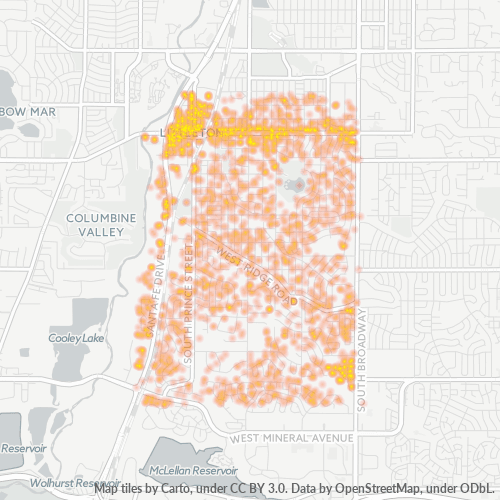 80120 Business Density Heatmap
