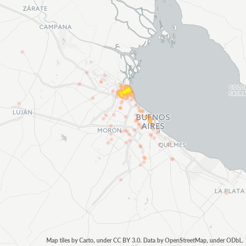 1642 Mapa de calor de densidad empresarial